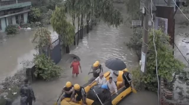 Over 130 killed, millions displaced from floods in South Asia. [Image source/CGTN YouTube video]