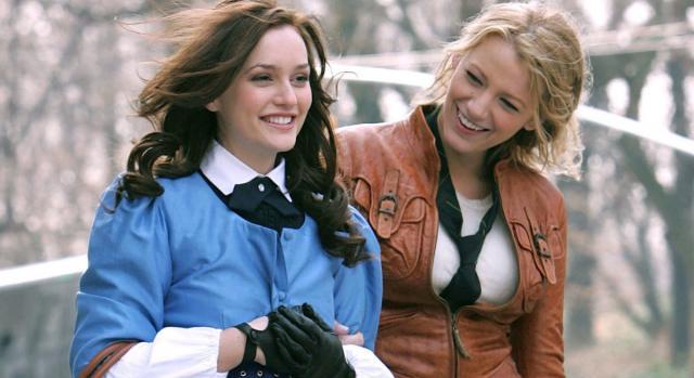Leighton Meester (da sinistra, Blair) e Blake Lively (a destra, Serena), le protagoniste di
