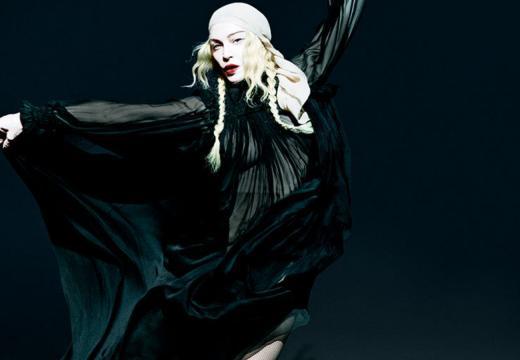 Madonna in un'immagine promozionale del suo nuovo album