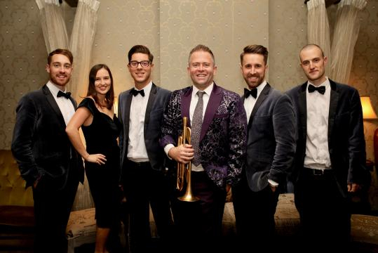 Adam Hall and his band the Velvet Playboys