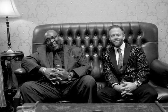 Adam Hall with Jazz legend Richard Jackson