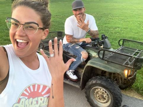 Brittany Cartwright and Jax Taylor show off wedding bling. [Photo via Brittany Cartwright/Instagram]