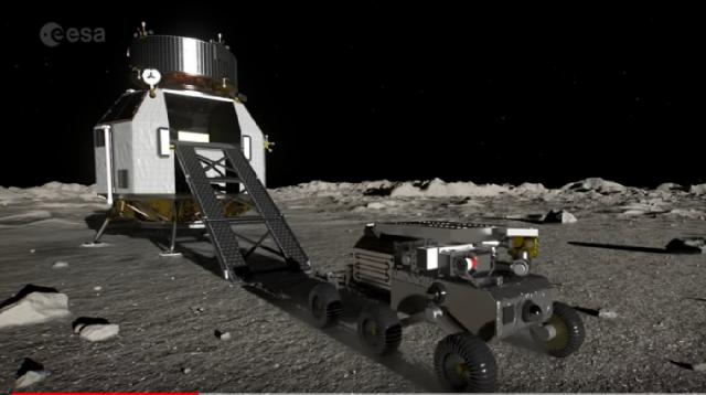 Robotic mission Heracles to the moon. [Image source/European Space Agency, ESA YouTube video]