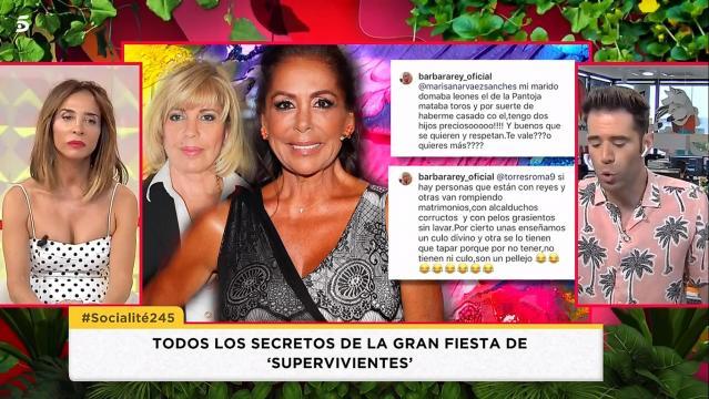 Bárbara Rey arremete sin piedad contra Isabel Pantoja e incluso se atreve a hablar de Kiko Rivera e Isa Pantoja