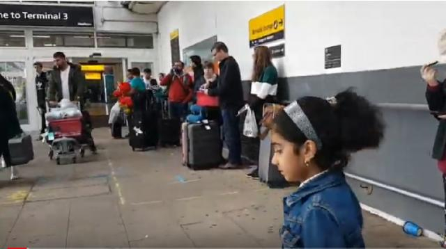 Departure terminal 3, Heathrow Airport London. [Image source/ZH Channel YouTube video]
