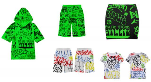 Parte della collezione di Billie Eilish x Freak City ispirata ai graffiti