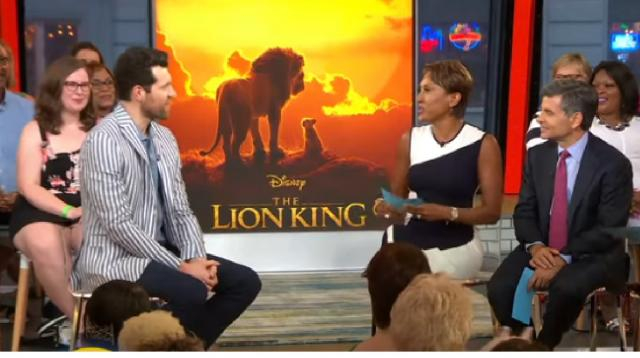 'The Lion King's Billy Eichner talks about his royal meeting with Harry and Meghan. [Image source/Good Morning America YouTube video]