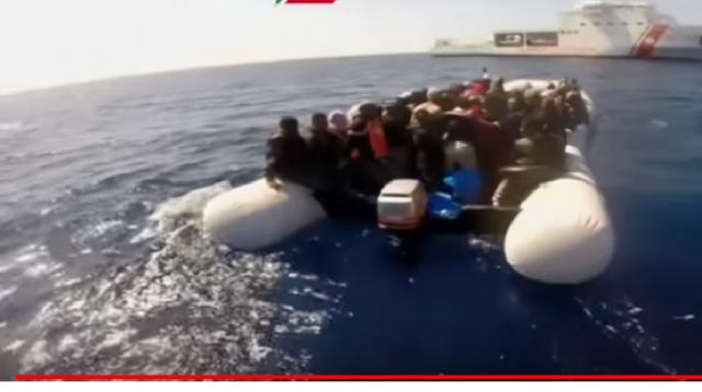 Boat capsizes off Libya coast, hundreds feared dead. [Image source/CBS Evening News YouTube video]