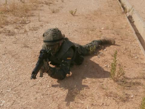 La vigilancia es por sectores específicos con cada soldado cubriendo un sector