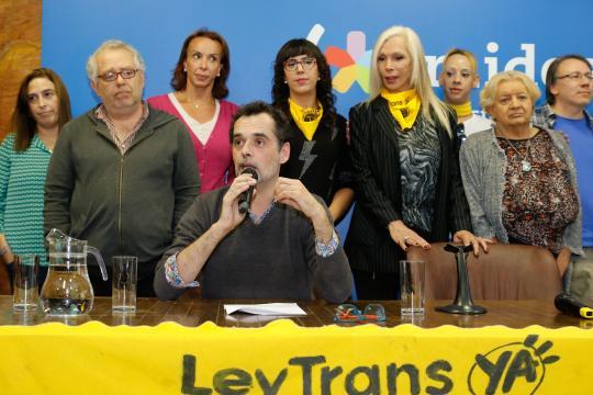 Foto de archivo de activistas trans