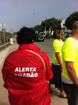 Equipa do Alerta Cidadãos presente na ação