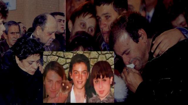 Familias de las niñas de alcasser durante el funeral