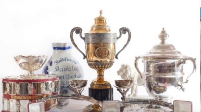 Tennis legend Boris Becker auctions trophies to pay off debts. [Image source/NYOOZ TV YouTube video]