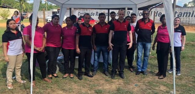 Programa social UNP montou ponto de apoio para familiares de presos em Altamira (PA). (Divulgação/UNP)