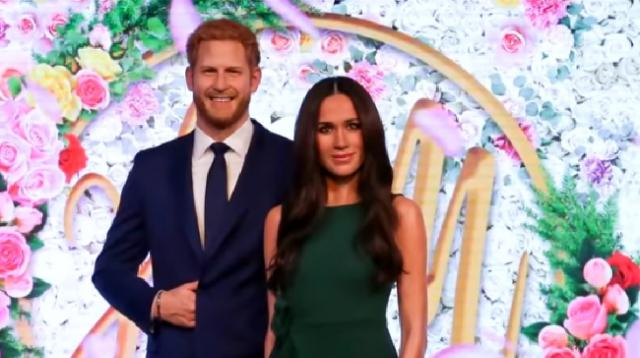 Meghan Markle wax figure revealed at Madame Tussauds. [Image source/Inside Edition YouTube video]