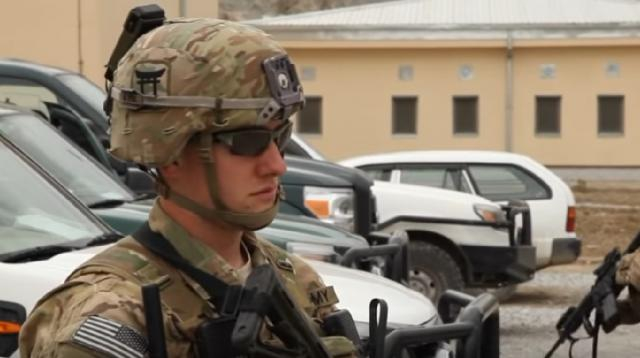 The last remaining American troops in Afghanistan. [Image source/CNN YouTube video]