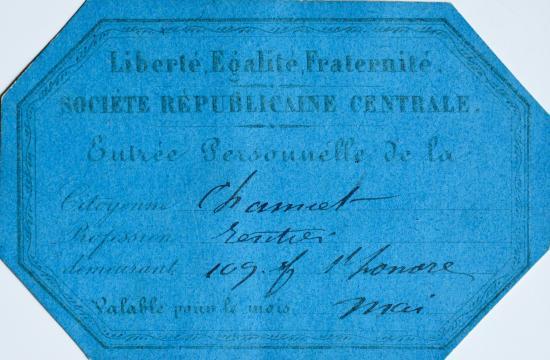 Deux rares documents sur Société Républicaine Centrale de Blanqui ... - traces-ecrites.com