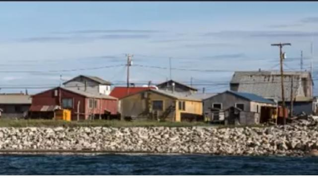 Shismaref, the arctic town falling into the sea through climate change , Alaska. [Image source/Cities of the World YouTube video]