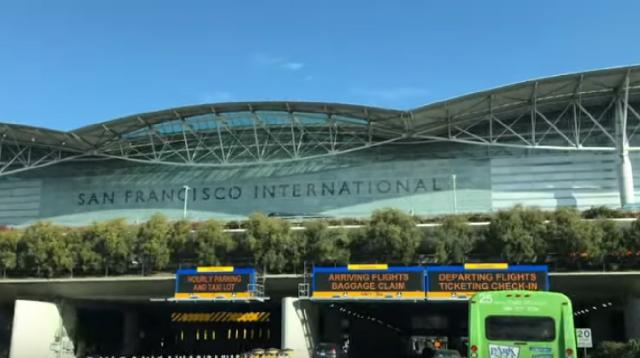 San Francisco Airport 2019. [Image source/CBS This Morning YouTube video]