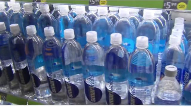 San Francisco Airport rolls out ban on plastic water bottles. [Image source/CBS This Morning YouTube video]