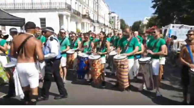 Live, London Carnival 2019 London Festival carnival. [Image source/Saber Husssain YouTube video]
