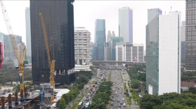 Jakarta 2019, Capital city of Indonesia. [Image source/Raja Drone ID YouTube video]