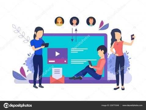 Tecnologías de los medios de comunicación, comunicaciones en línea ... - depositphotos.com