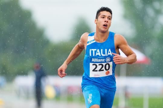 Raffaele Di Maggio sotto la pioggia (Foto Marco Mantovani)