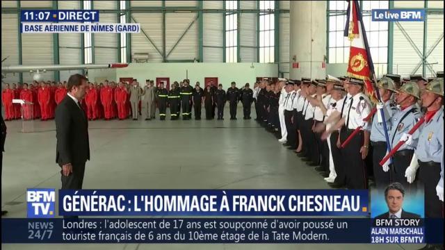 L'hommage à Franck Chesneau, pilote mort dans le crash d'un ... - dailymotion.com