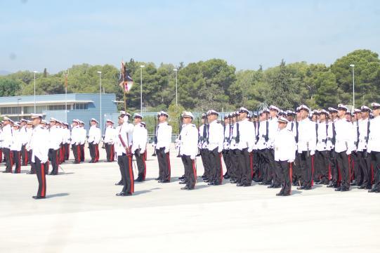 Las formaciones de gala aparte de la labor ceremonial forman parte de la instrucción