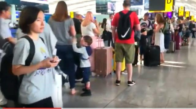 British Airways passengers face chaos after latest IT failures. [Image source/Arab News YouTube video]