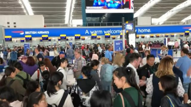 British Airways suffers another technical error. [Image source/ITV News YouTube video]