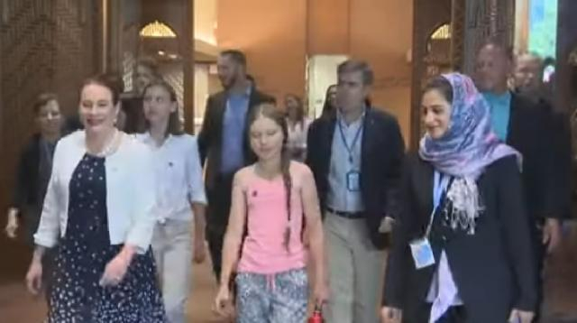 Greta Thunberg takes her climate message to UN. [Image source/Associated Press YouTube video]