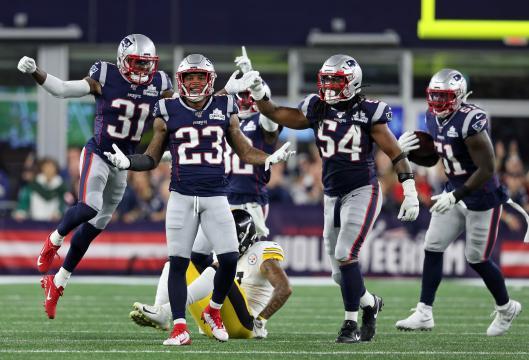 La defensiva de New England tuvo un partido inmaculado. www.bostonglobe.com