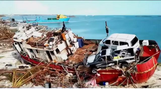 Bahamas faces public health crisis after Hurricane Dorian. [Image source/NBC News YouTube video]