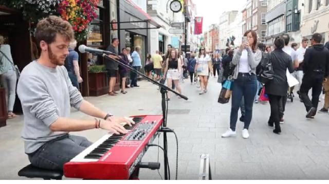 Andres S. Macnamara - Strawberry Fields Forever (The Beatles). [Image source/Dublin City Today YouTube video]