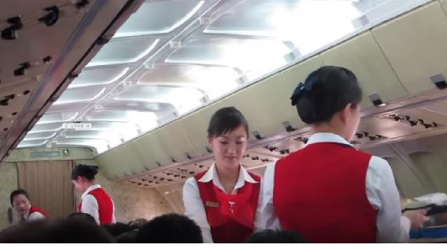 Inside North Korea's One Star Airline. [Image source/Sam Chui YouTube video]