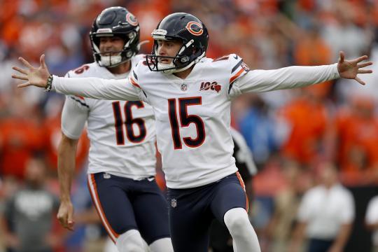 Los Bears dejaron tendidos en el terreno a los Broncos, con el gol de campo de Piñeiro. www.abc7chicago.com
