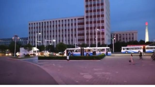 Streets of Pyongyang, North Korea. [Image source/Martin Leo Dyrvang YouTube video] https://www.youtube.com/watch?v=Nw59UXMPZNQ