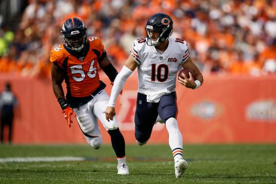 Trubisky volvió a dejar dudas con los Bears. wwwusatoday.com