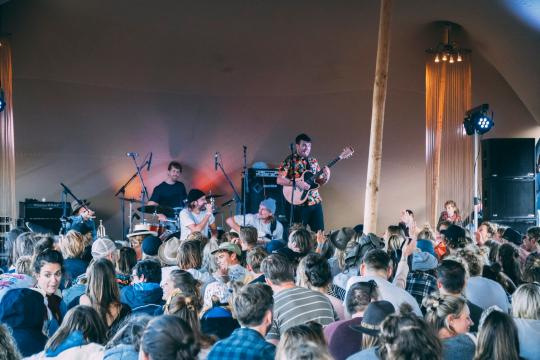 Ocean Tribe live on stage at Surfana Festival 2019