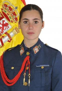Retrato de la cadete de tercer año Almirón, fallecida en accidente de vuelo.