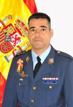 Retrato oficial del comandante Melero, instructor de vuelo.