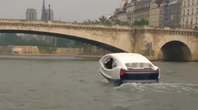 Flying taxi in Paris. [Image source/CBS Miami YouTube video]