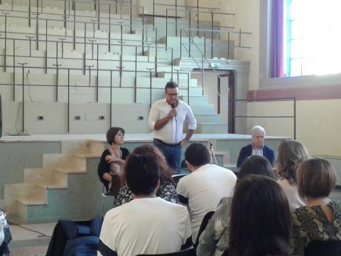 Daniele Giliberti interviene alla presentazione