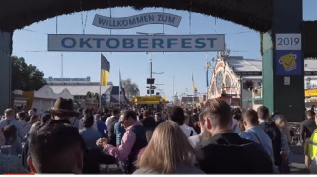 Oktoberfest 2019 opening in Munich. [Image source/Travel Travel Travel YouTube video]