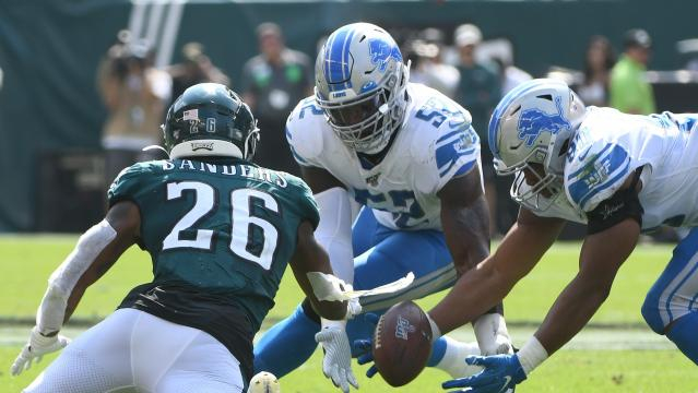 Los Lions aprovecharon los errores de los Eagles. www.detroitnews.com
