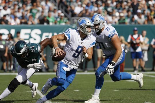 Stafford fue pragmático en la victoria Lion. www.mlive.com