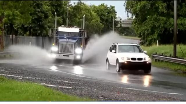 Puerto Rico hit by Tropical Storm Karen not long after 6.0 magnitude earthquake. [Image source/CBS News YouTube video]