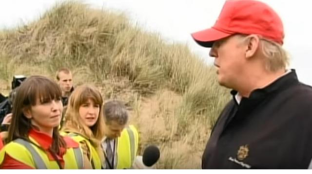 Why has Trump applied for new planning permission in a Scottish town? [Image source/Channel 4 News YouTube video]